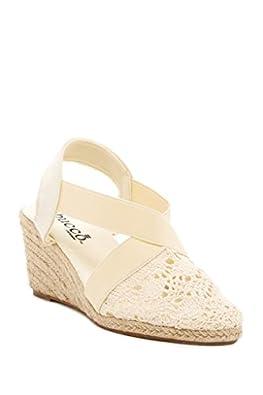 143ccf8aa28 Amazon.com | Bucco Espresso Womens Fashion Espadrille Wedge Sandals ...