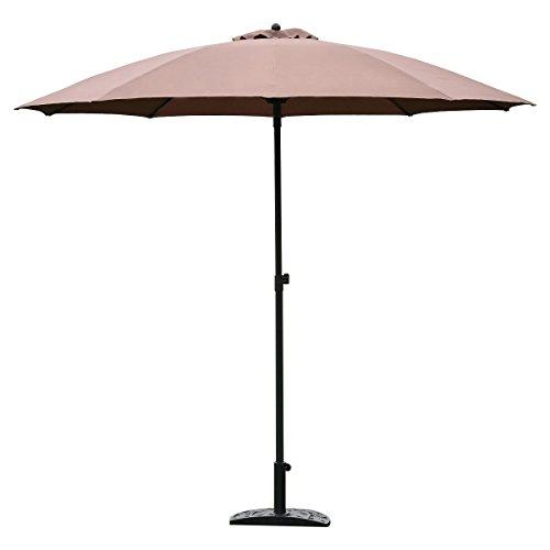 TANGKULA 8.2Ft Height Adjustable Outdoor Patio Umbrella Market Sun Shade Beech (Tan) Review