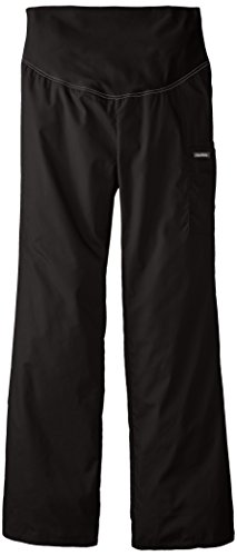 Cherokee Women's Tall Maternity Knit Waist Pull-On Pant, Black, Medium