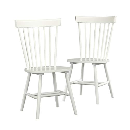 Sauder Cottage Road Spindle Back Chair, White finish