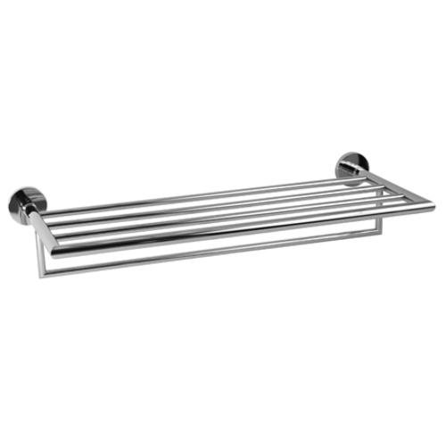 Ginger XX43S24PN 24 Inch Hotel Shelf Frame With Towel Bar In Polishe by Ginger