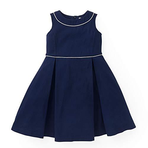 Hope & Henry Girls' Navy Sleeveless -