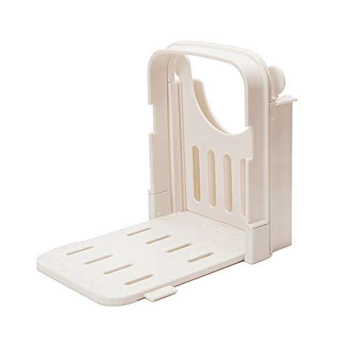 Erencook Bread Slicer, Household Adjustable Roast Loaf Toast Cake Slicer Cutter, Foldable ABS Environmentally Friendly Plastic Cutting Slicing Guide