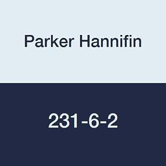 Parker Hannifin 231-6-2 Dubl-Barb Brass Body Male Run Tee Fitting 3//8 Barb Tube x 1//8 Male Thread
