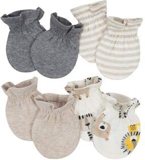 Organic Cotton Rib No Scratch Mittens, 4pk (Baby Boy) Gerber