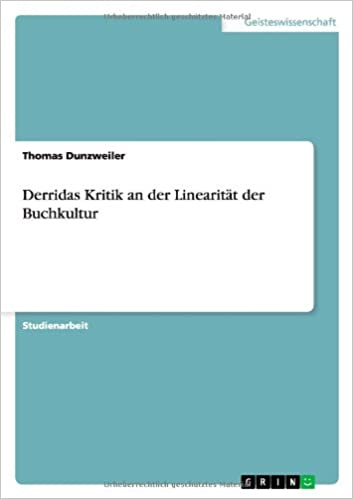 Download ebooks in pdf format free Derridas Kritik an Der Linearitat Der Buchkultur (German Edition) PDF 3640593243