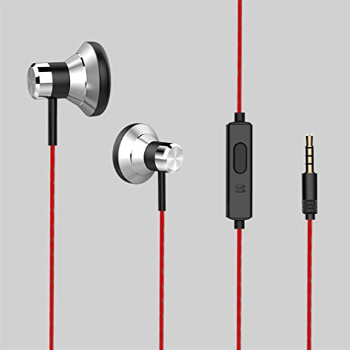 - Metal Earbuds, Stand-Weight Bass, Intelligent Line Control, Soundproofing, Microphone, Compatible with Android Windows iOS (Black)