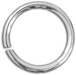 Pack 450 x Silver Plated Iron Nickel Free Strong Jump Rings 7mm x 0.7mm HA02210