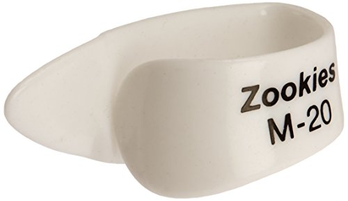 Dunlop Z9002M20 Zookies Thumbpicks, White, Medium 20⁰, 12/Bag (Dunlop Zookies Thumb Picks)