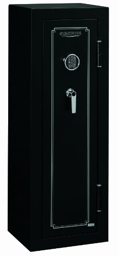 Stack-On FS-14-MB-E 14-Gun Fire Resistant Safe with Electronic Lock, Matte Black