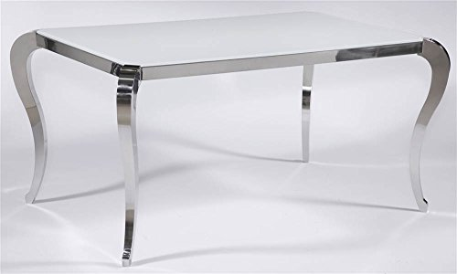 Dining Room Mirrored Pedestal - Chintaly Modern Dining Table