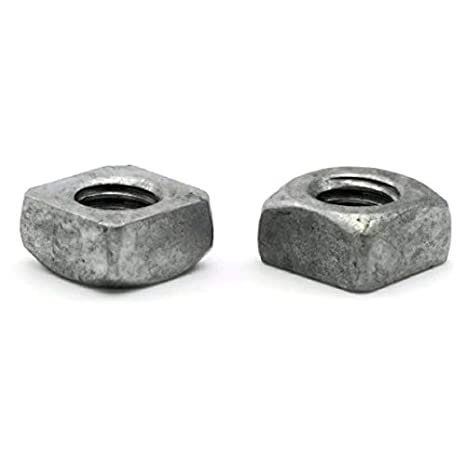 Square Nuts Hot Dipped Galvanized Grade 2-1-8 UNC Qty-1000