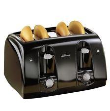Sunbeam 39111 Extra Wide Slot Toaster, 4-Slice, 11 3/4 x 13 3/8 x 8 1/4, Black