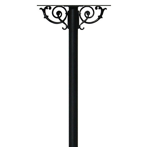- The Hanford Cast Aluminum Triple Mailbox Post System with Mounting Brackets and Scroll Supports, Mailboxes Sold Separately, Ships in 2 boxes