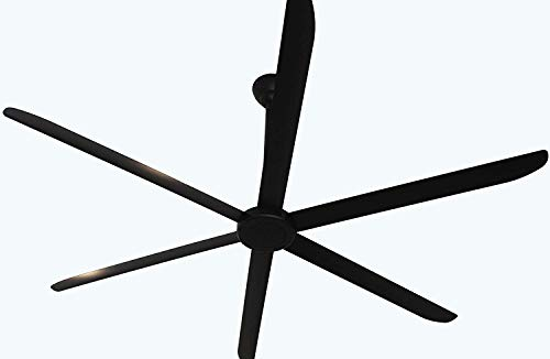 Big Air 108 Ceiling Fan 40,000 CFM Stylish Design for Shop, Commercial, Residential, Industrial Pure Black