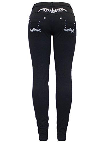 Noir Femme Silver Jeans Noir Fashion Skinny Barfly Black 4tIpt