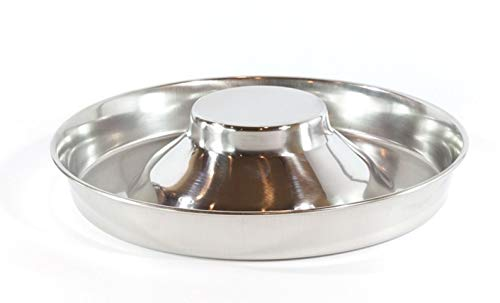 Puppy Feeder - Fuzzy Puppy Pet Products PS-11 Puppy Saucer Dog Bowl with Raised Center, 11