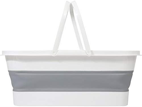 Fssh-mlx ポータブル折りたたみモップバケツ折りたたみ可能な流域浴室観光アウトドア折りたたみバケツ釣り洗車クリーンバケツアクセサリー (色 : ライトグレー)