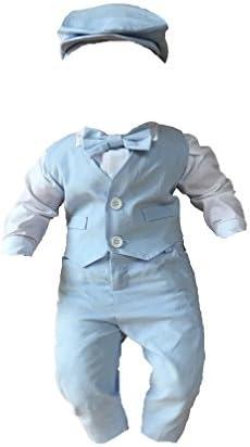 Blau Taufanzug Festanzug Hochzeit Anzug 5 Teilig Set Gr 62 68 74 80 Hell