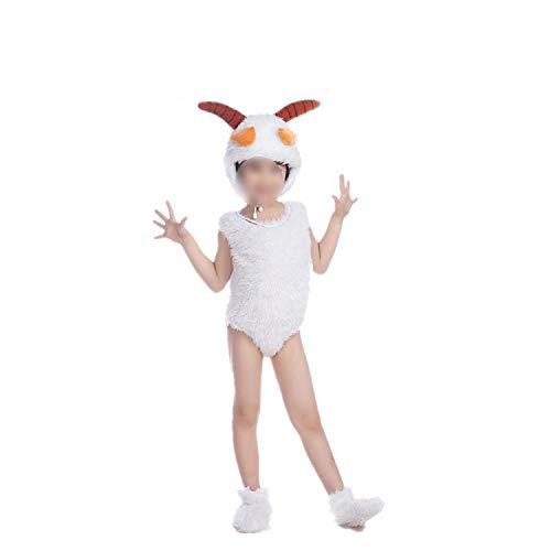 Children's Animal Performance Costumes Sheep Cartoon Halloween Cosplay,Pleasant Goat Short,100cm ()