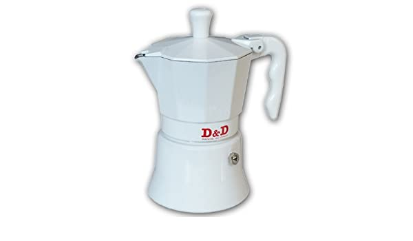 Cafetera expreso D&D blanca, 3 tazas: Amazon.es: Hogar