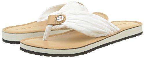 121 Leather whisper Beach Footbed Tommy White Flops Hilfiger Women''s Flip Sandal EwqWyRvga