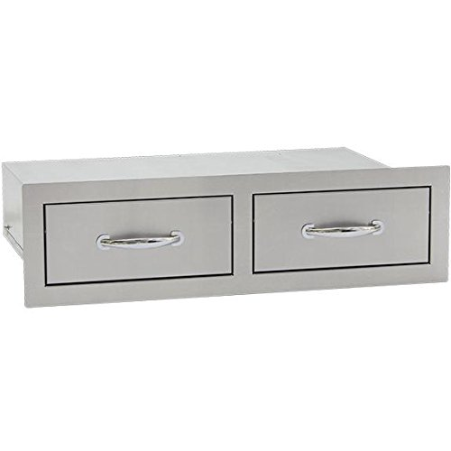 Summerset 30-inch Stainless Steel Flush Mount Horizontal Double Access Drawer - Sshdr-2