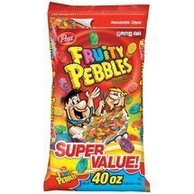 Post, Fruity Pebbles Cereal, 40oz Bag (Pack of 3)
