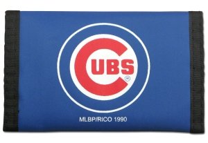 Rico MLB Chicago Cubs Nylon Trifold Wallet