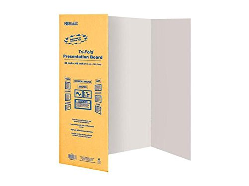 Corrugated Presentation Board (BAZIC Tri-Fold Corrugated Presentation Board, 36 x 48 Inch (3-Pack))