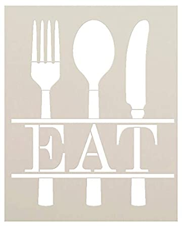 Amazon.com: Comer con Silverware Stencil by StudioR12 ...