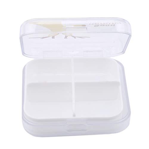 VWH Portable Mini Cartoon Plastic Pill Box Medicine Case For Healthy Care Empty Drugs Box (yellow)