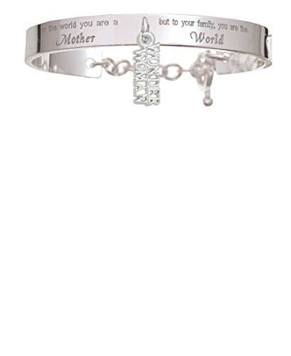 Wonder Woman You Are A Mother Cuff Charm Bracelet (Wonder Woman Cuff Bracelet)