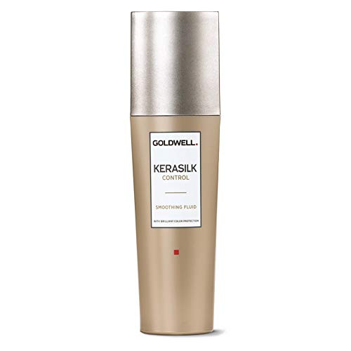 - Goldwell Kerasilk Control Smoothing Fluid - Keratin & Silk For Sleek Style & Heat Protection - 2.5oz