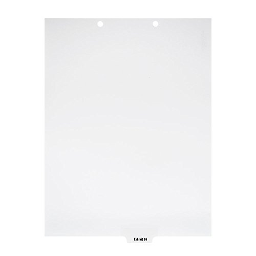 - Blumberg Exhibit Index Dividers, Bottom Tabbed, 1/6 Cut, Letter Size, 2 Holes at the Top, 25 Individual Numbers per Package (Exhibit 16)