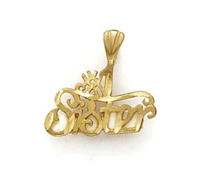 Numéro 14 Carats Pendentif JewelryWeb une sœur