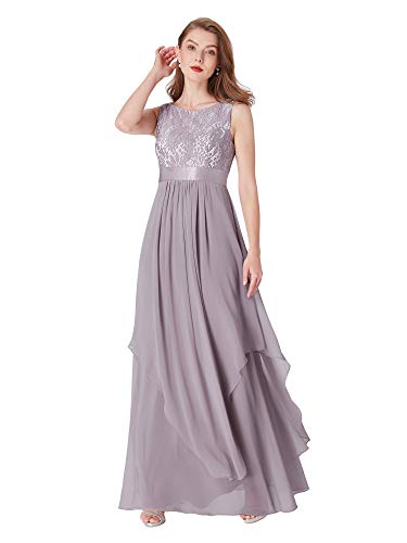Ever-Pretty Womens Sleeveless Round Neck Evening Party Dress 4 US Grey