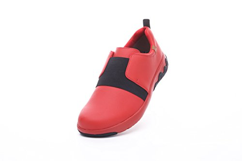 UIN Mens Guyana Fashion Microfiber Walking Shoes Red J412q