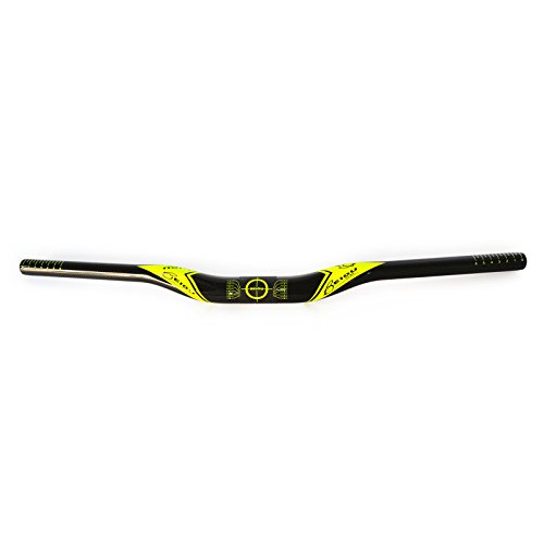 BEIOU Carbon Fiber Handle Bar Unibody Mountain Bike Riser Bar 720mm Road Bike Handle Bar Ultralight T700 Yellow H002A272