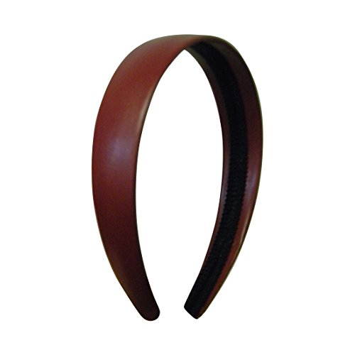 1 Inch Wide Leather Like Headband Solid Hair band for Women and Girls