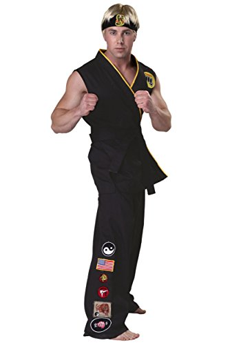 [Authentic Karate Kid Cobra Kai Costume - L] (Cobra Kai Costume Large)