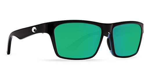 Costa Del Mar HNO11OGMP Hinano Sunglass, Shiny Black Green - Costa Hinano