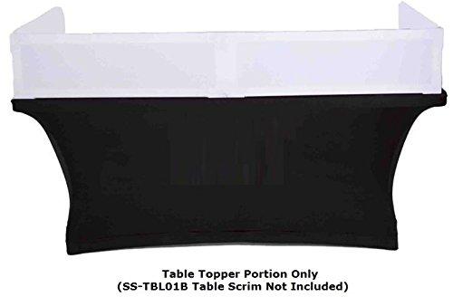 Scrim king table topper