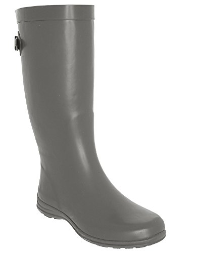 LA Combo Rain Back Matte Boot Solid Grey Tall with Gear Gusset vnwpCqxrvO
