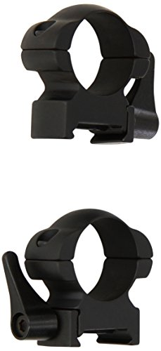 Weaver Grand Slam Lever Lok Top 1-Inch High Mount Rings (Matte Black)