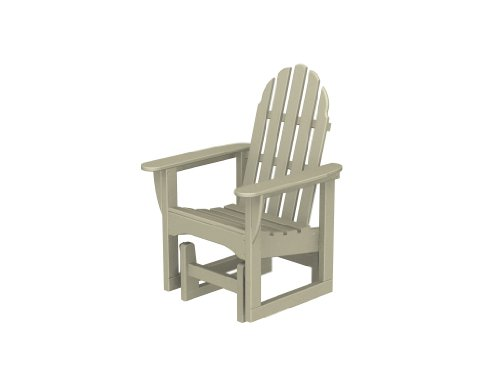 Recycled Plastic Adirondack Glider Chair by PolyWood Fram...