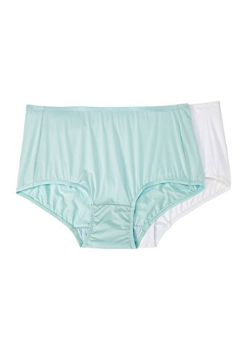 Comfort Choice Women's Plus Size Cooling Brief 2-Pack Basic Pack,13