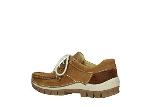 4708 Tabacco 175 Mujer Nubuck Cordones Zapatos Wolky 10410 para de Uv7qyd