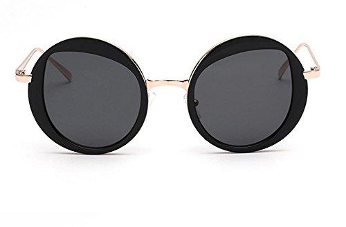 de black Glasses Light des CMCL Soleil Lunettes Ultra Mode Dames Mirror Circular Reflective Trendy de cocons Voyageur wIaxq8