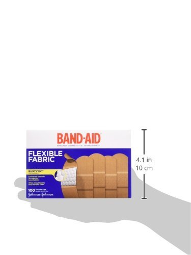 Band-Aid Brand Flexible Fabric Adhesive Bandages For Minor Wound Care, 100 Count - Pack of 6